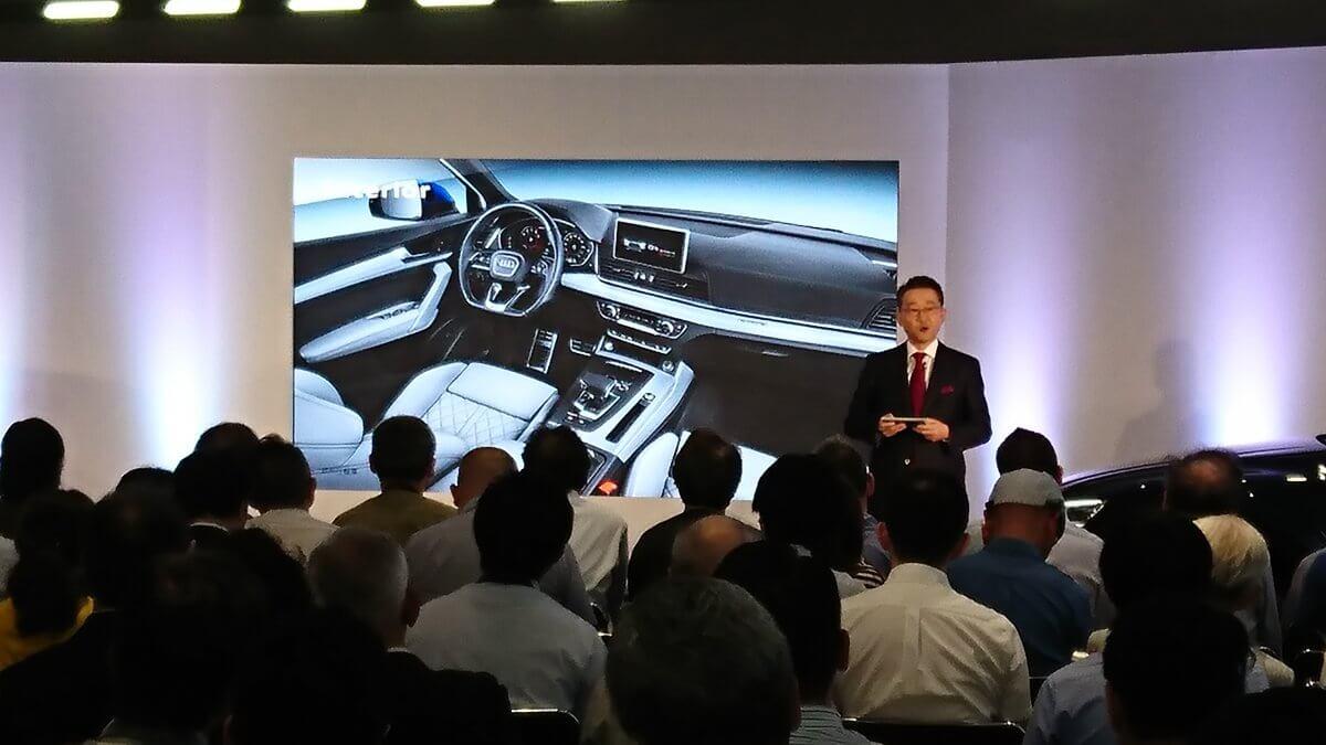 """9月20日に開催された""""新型Audi Q5""""発売イベントにLEDビジョンを導入いたしました"""