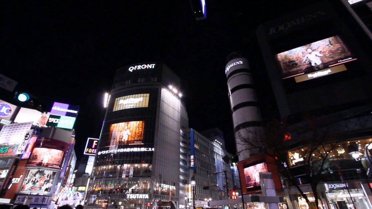 4基の大画面がシンクロ!!渋谷を迫力の映像とサウンドでジャックするには!!