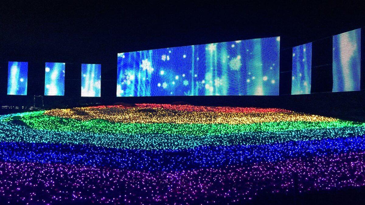 """音楽・光・映像で演出!ウインターイルミネーションに、""""関東最大級のLEDビジョン""""を設置!「東武動物公園」"""