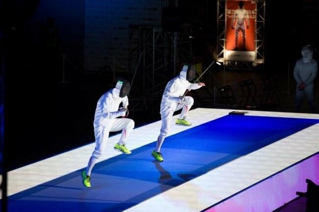 スポーツ×LEDビジョンの可能性!フェンシング今期2大会においてLEDビジョンによる試合演出を担当!
