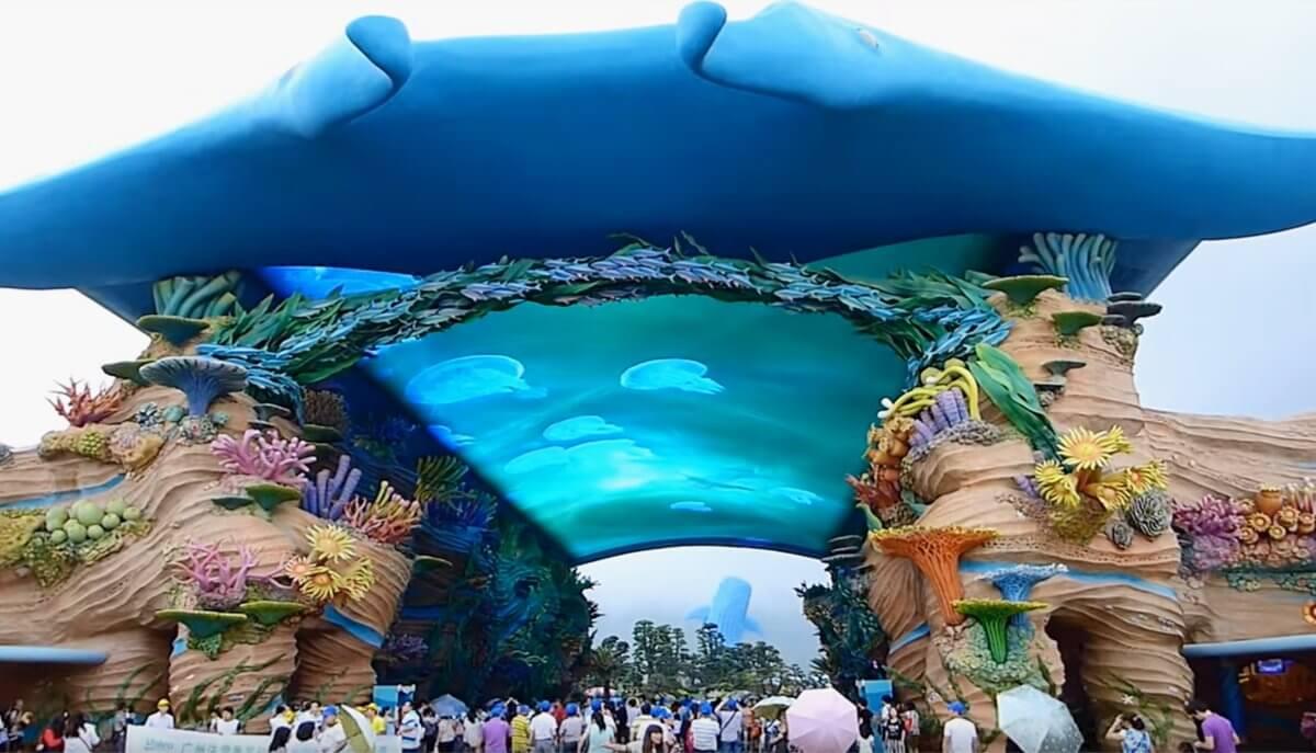 5つのギネス!世界最大水族館のとんでもないLEDビジョン!「長隆海洋王国 / 中国・珠海」