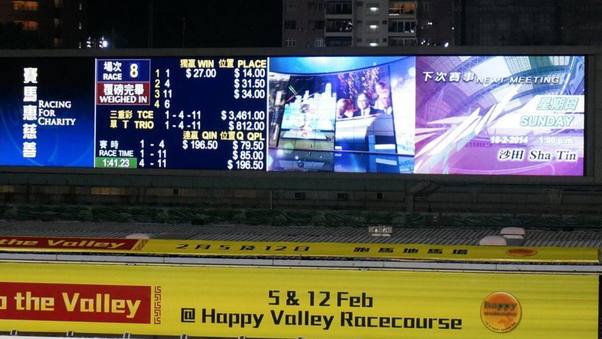 世界中の競馬場でレース観戦を盛り上げている大型LEDビジョンのご紹介