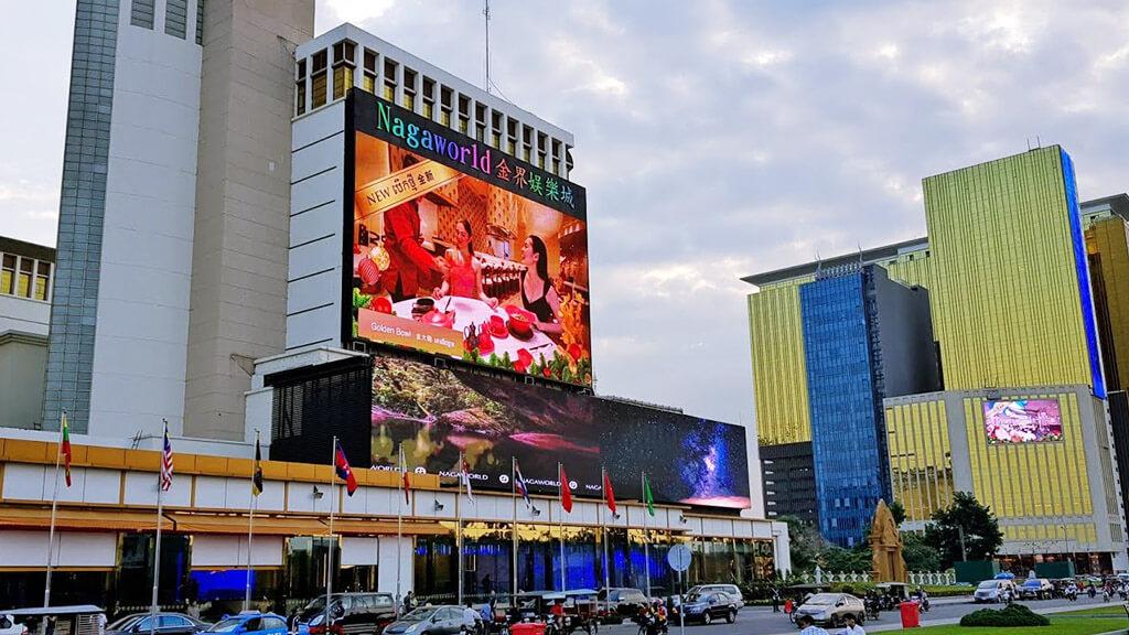 """優美な""""LEDビジョン""""の導入で価値を高める巨大リゾート「ナガワールド・プノンペン」"""