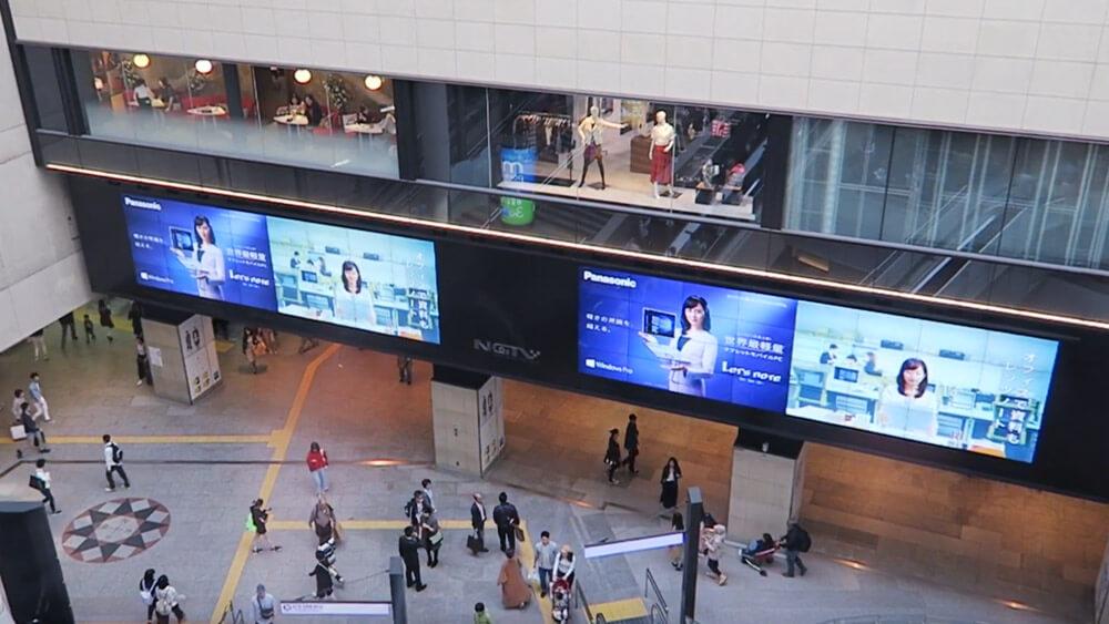 難波駅に見られるのは国内駅最大級サイズの液晶ディスプレイ!「なんばガレリアツインビジョン」