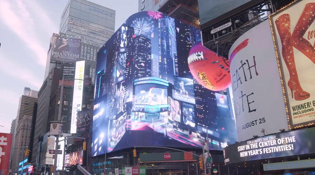 大型LEDビジョンがひしめくNYタイムズスクエアに、最高解像度「8K」を実現したLEDビジョンが誕生
