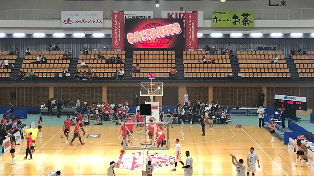 B2LEAGUE 開幕戦「東京八王子ビートレインズ vs. アースフレンズ東京Z」試合会場にLEDビジョンを導入しました