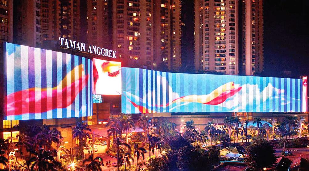 LEDビジョンが価値を高める!ギネスにも認定されたインドネシア最大級サイズのLEDビジョン
