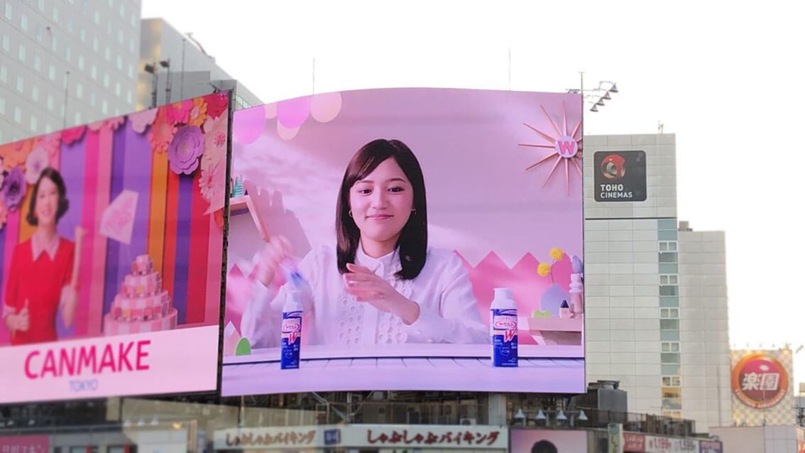 国内屈指のLEDビジョン激戦区「渋谷スクランブル交差点」に新たな大型LEDビジョンが誕生