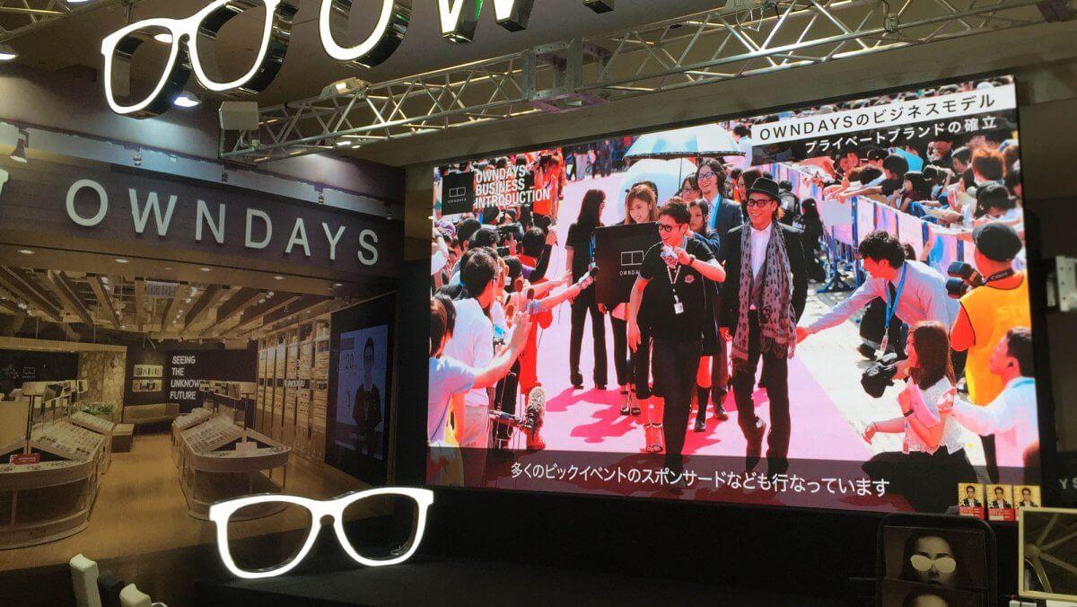 東京ビッグサイト「フランチャイズ・ショー2019」でも大注目「OWNDAYS」展示ブースに、LEDビジョンを設置しました