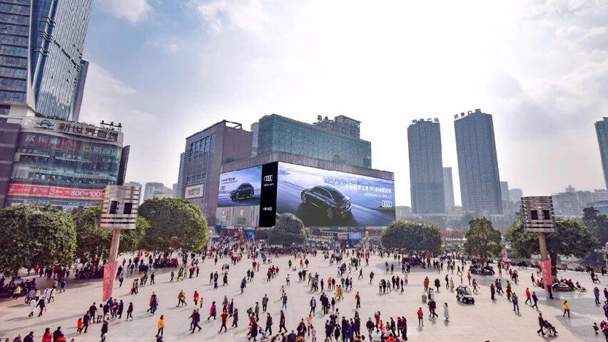 ハイテク産業で急速な経済成長を続ける「中国」に誕生した超巨大LEDビジョン「アジアの光」