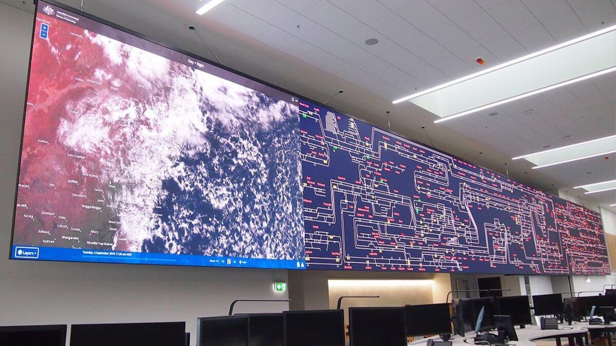 シドニーに新設された世界最大級レールオペレーションセンターに「超高精細LEDビジョン」が導入