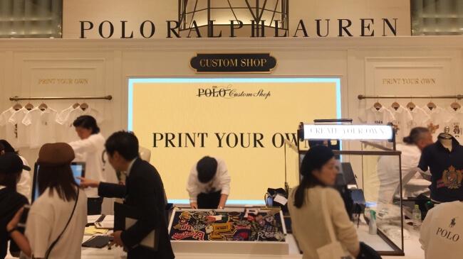 阪急うめだ本店「POLO RALPH LAUREN」イベント「Create Your Own」に、LEDビジョンを設置しました