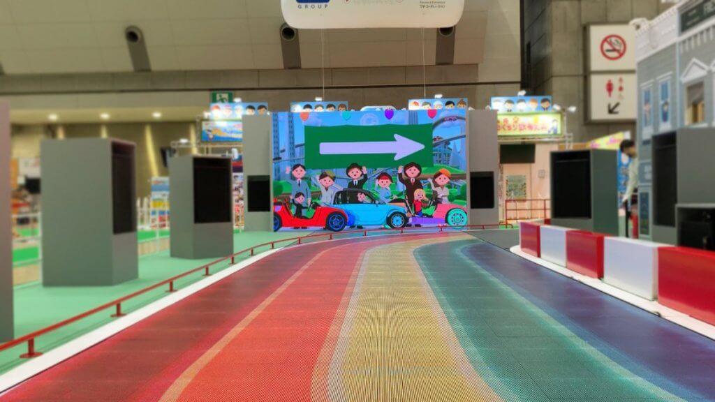 東京おもちゃショー2019 トヨタ「CAMATTE CONNECTION」 LEDビジョン