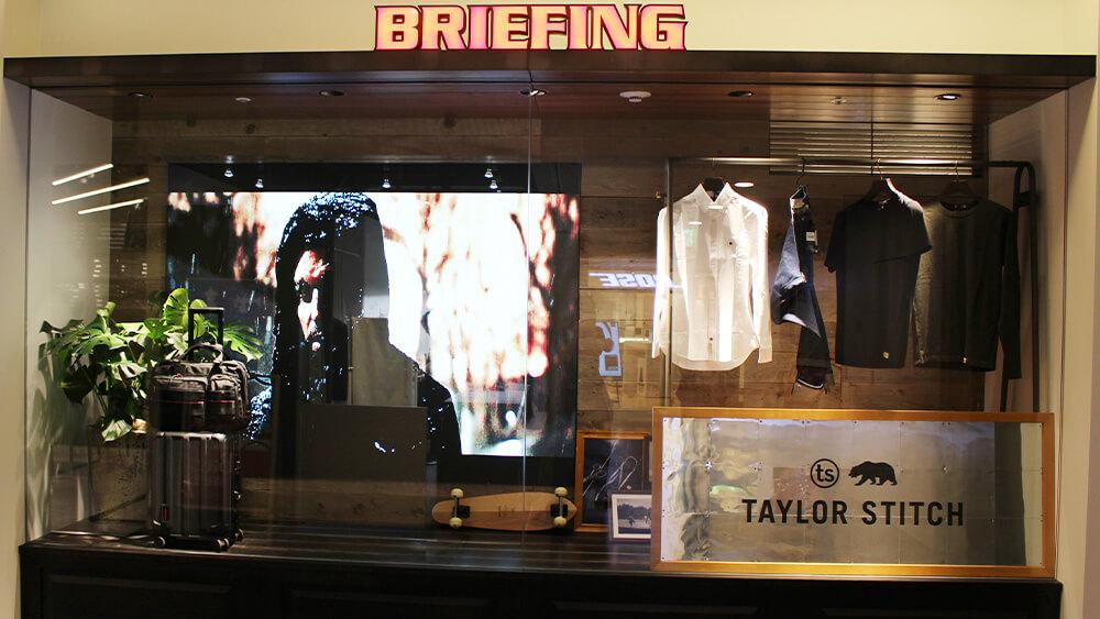 9/13「BRIEFING 表参道ヒルズ店」がリニューアルオープン!LEDビジョンを2面設置しました