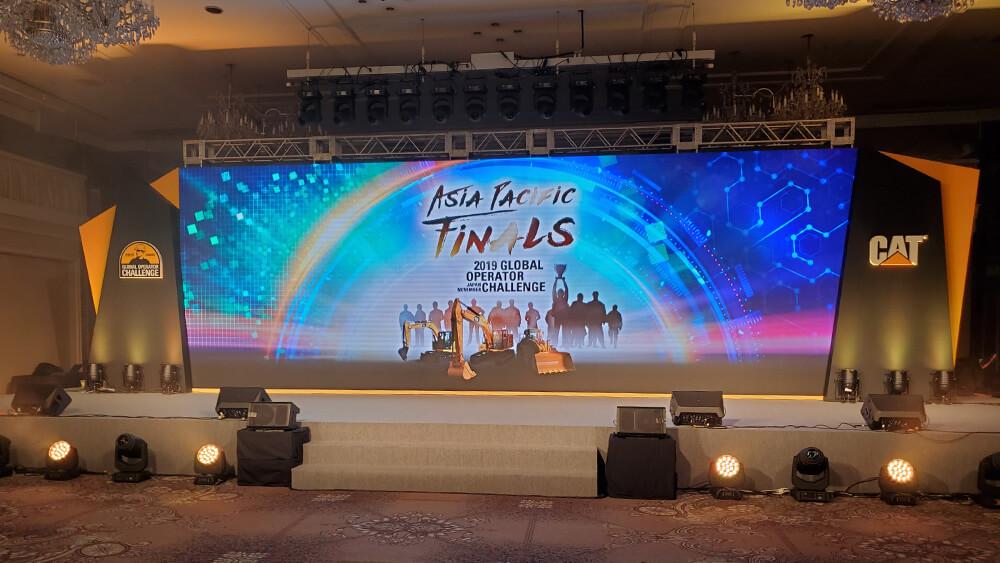 3名が世界大会出場権を獲得!「グローバル オペレータチャレンジ アジア大会」表彰式に大型LEDビジョンを設置しました