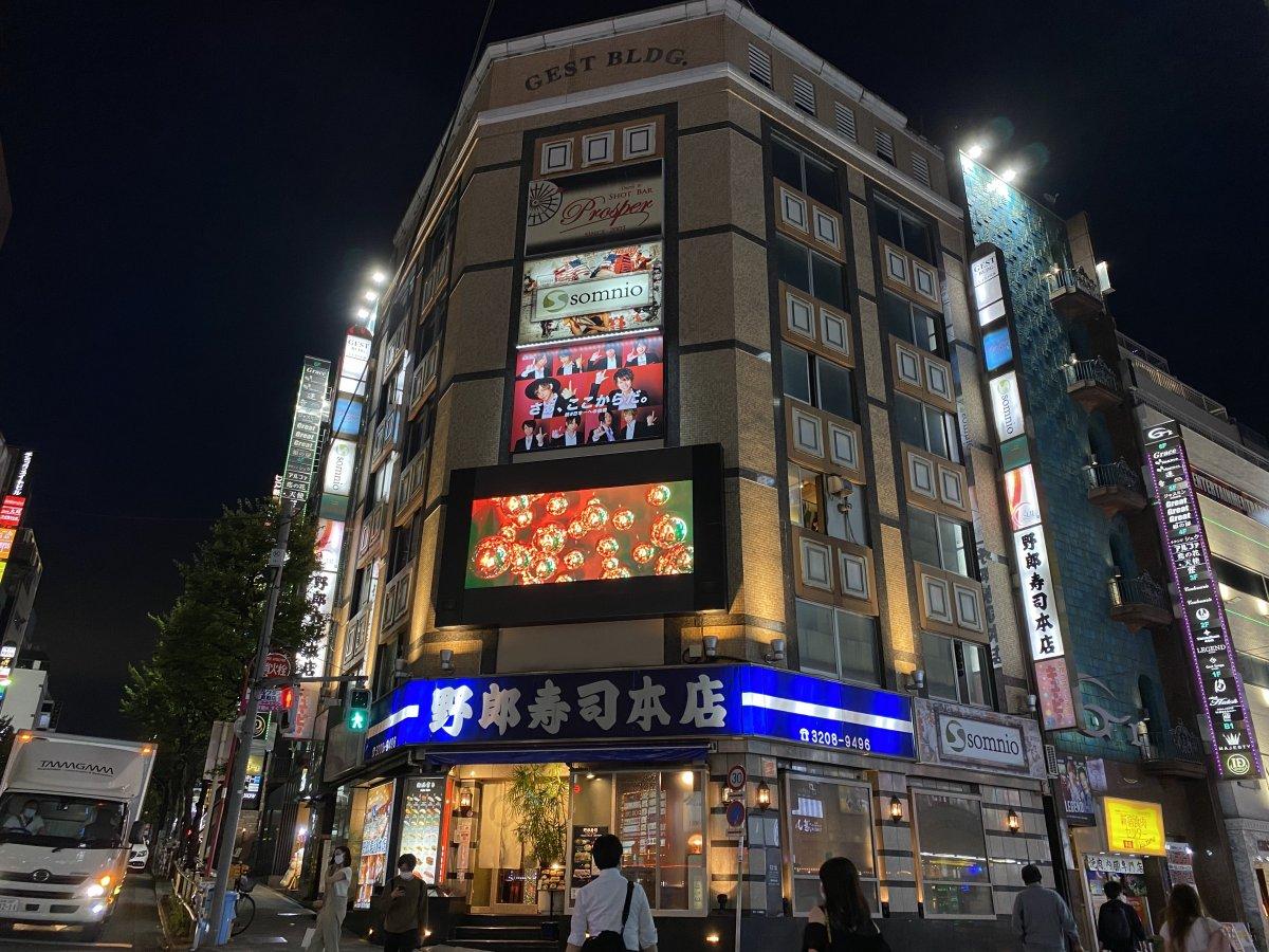 歌舞伎町のど真ん中!「GEST BLDG.」壁面にLEDビジョンが導入されました。