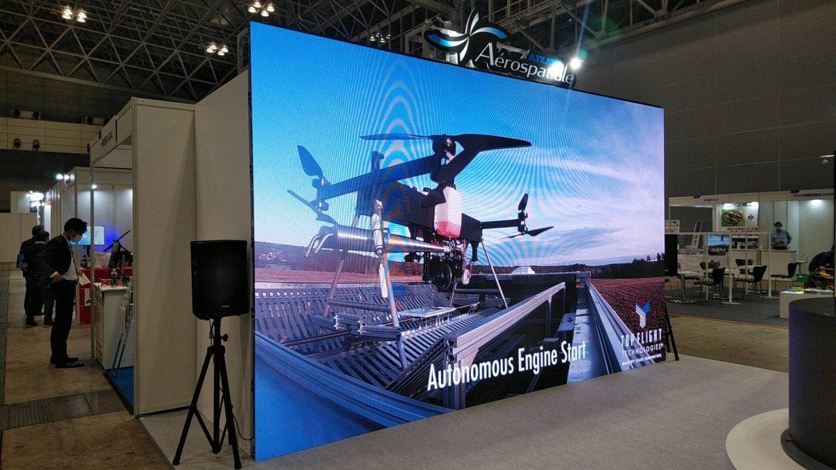 幕張メッセで開催されたジャパンドローン2020にLEDビジョンを設置しました